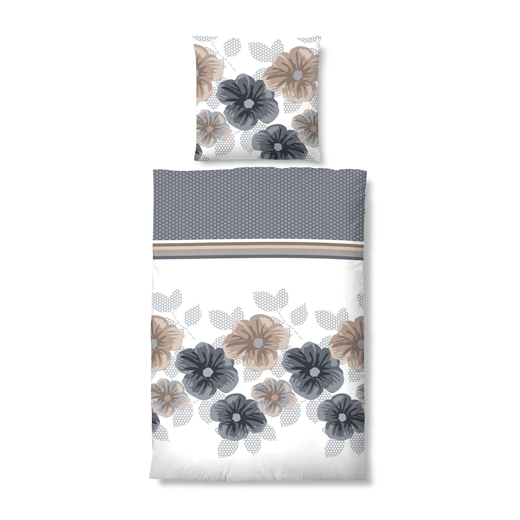 biberna bettw sche braun beige satin ebay. Black Bedroom Furniture Sets. Home Design Ideas