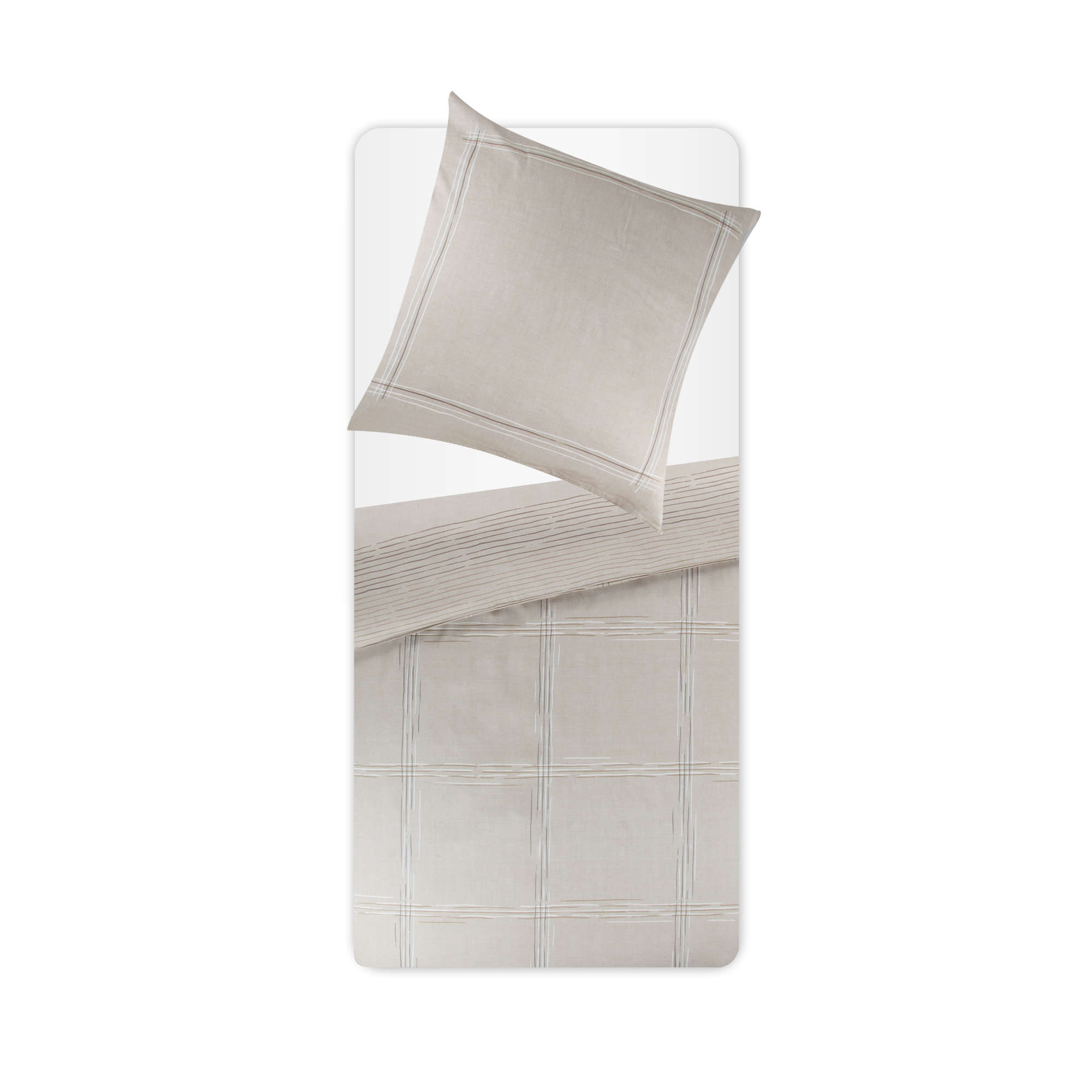 estella bettw sche braun beige satin ebay. Black Bedroom Furniture Sets. Home Design Ideas