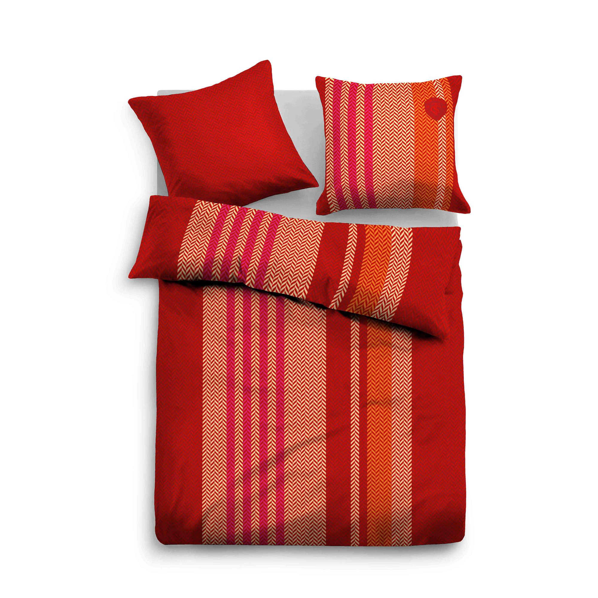 tom tailor bettw sche rot flanell. Black Bedroom Furniture Sets. Home Design Ideas