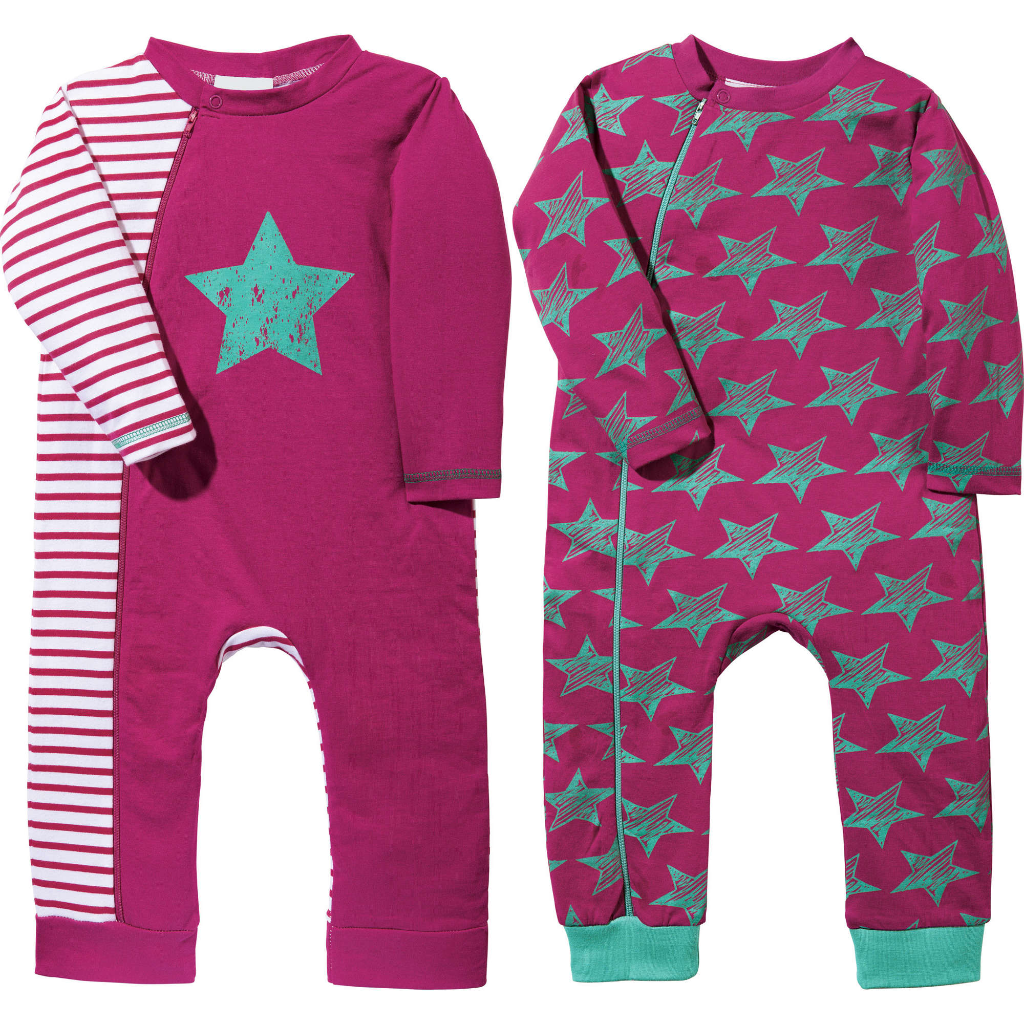 baby butt schlafanzug 2er pack interlock jersey ebay. Black Bedroom Furniture Sets. Home Design Ideas