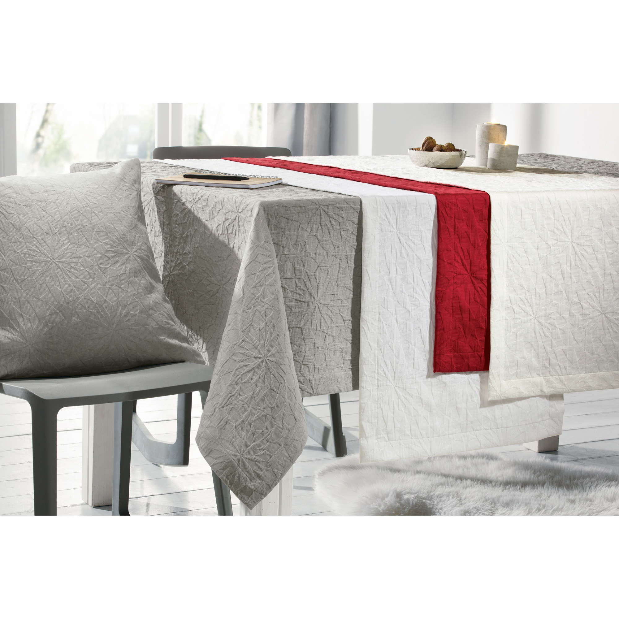 pichler tischdecke anna damast jacquard ebay. Black Bedroom Furniture Sets. Home Design Ideas