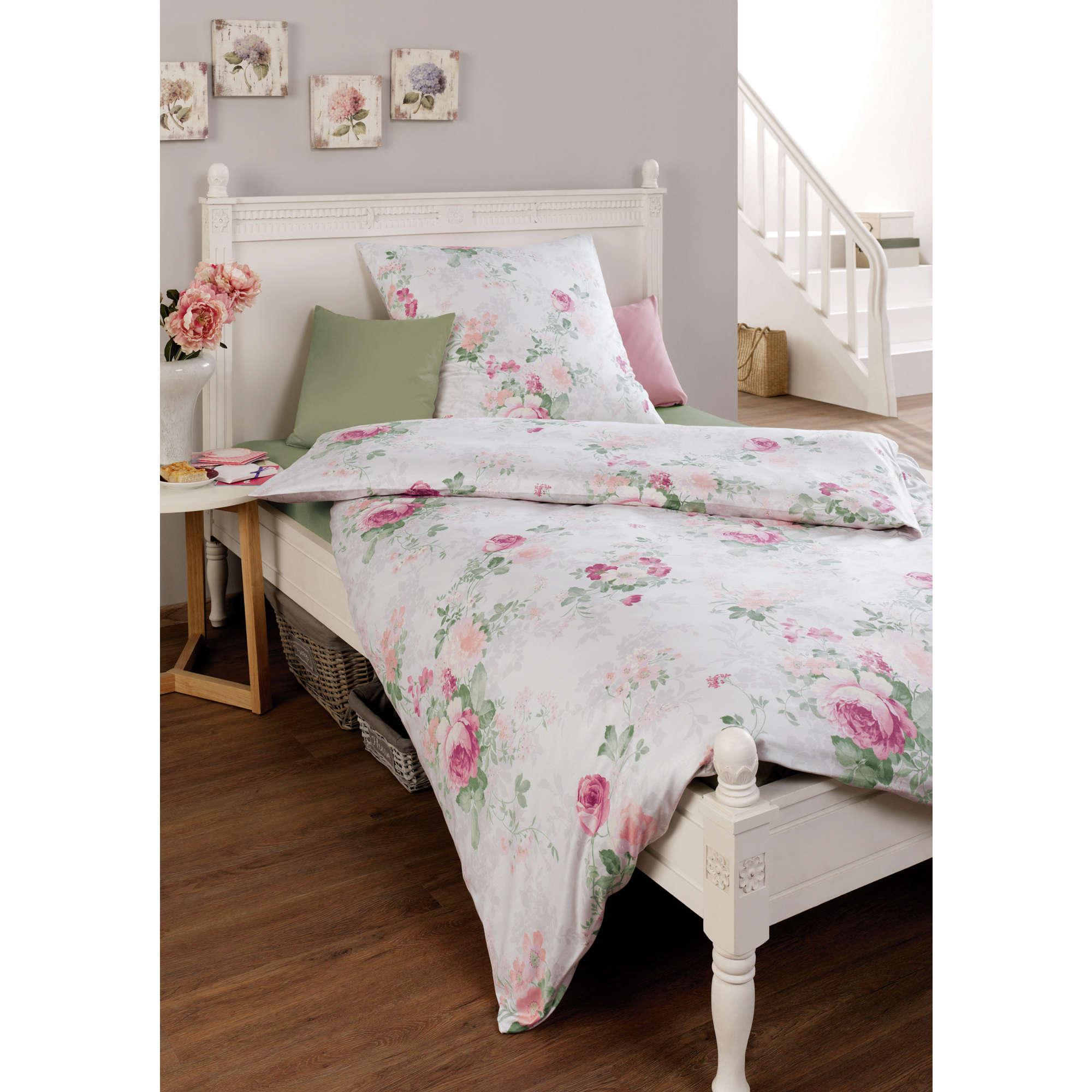 estella bettw sche creme interlock jersey ebay. Black Bedroom Furniture Sets. Home Design Ideas