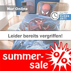 Biber-Bettw�sche Spiderman