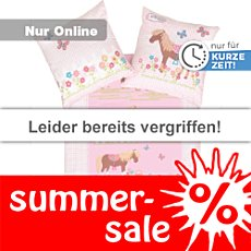 Kinderbutt Biber Bettw�sche Pony