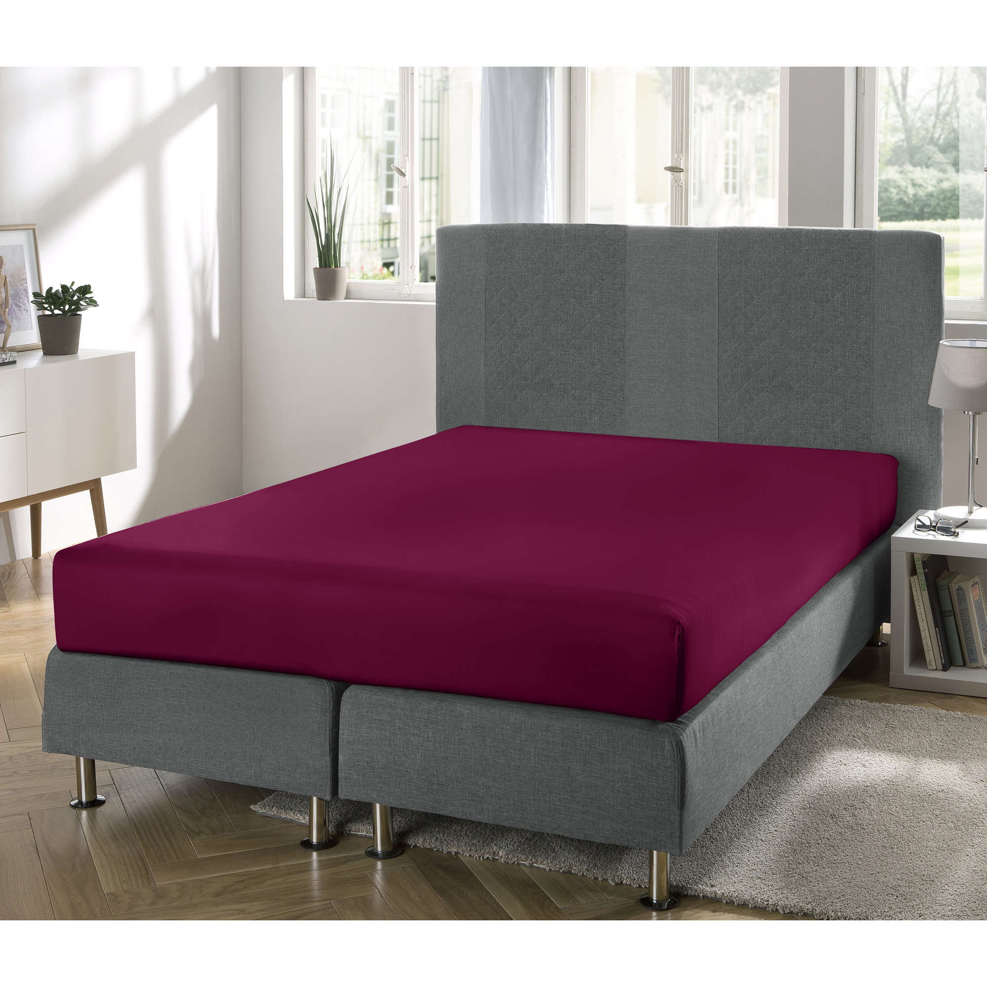 erwin m ller boxspringbett spannbettlaken freising single jersey ebay. Black Bedroom Furniture Sets. Home Design Ideas