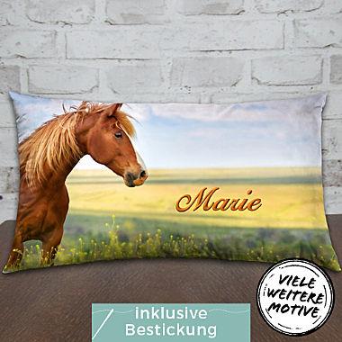 Motivkissen Pferd inklusive Füllung