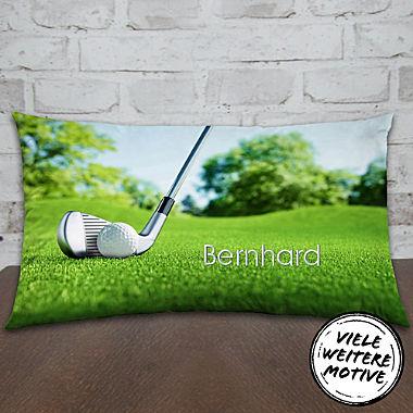 Motivkissen Golf inklusive Füllung