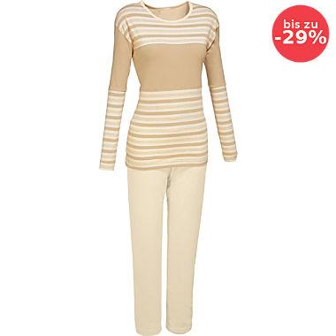Götting Single-Jersey Damen-Schlafanzug naturbelassen