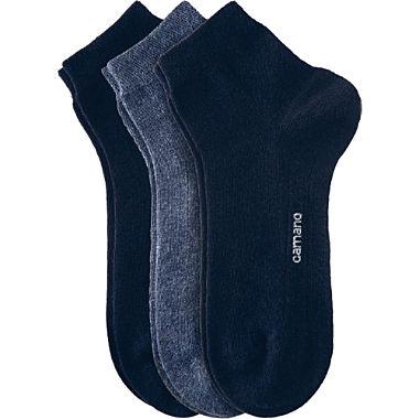 Camano Unisex Quarter-Socken im 3er-Pack