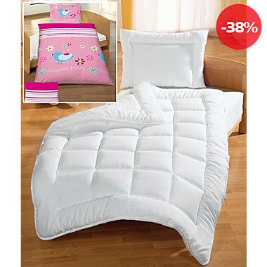 Kinder-Sparpaket 5-tlg.: Renforcé-Bettwäsche, Spannbettlaken, Bett-Set