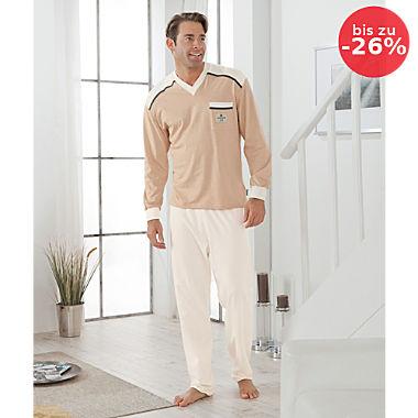 Götting Single-Jersey Herren-Schlafanzug naturbelassen