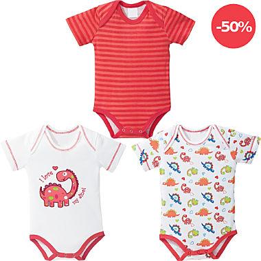 Erwin Müller Baby-Body im 3er-Pack