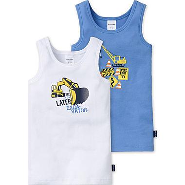 Schiesser Feinripp Kinder-Unterhemd im 2er-Pack
