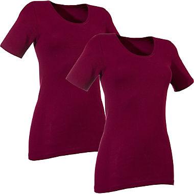 Damen-Unterhemd, 1/2-Arm im 2er-Pack