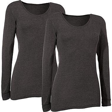 Damen-Unterhemd, langarm im 2er-Pack