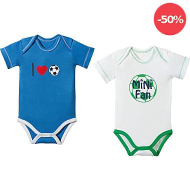 Erwin Müller Interlock-Jersey Baby-Body Kurzarm im 2er-Pack