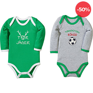 Erwin Müller Interlock-Jersey Baby-Body Langarm im 2er-Pack