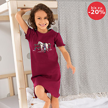 Erwin Müller Single-Jersey Kinder-Nachthemd