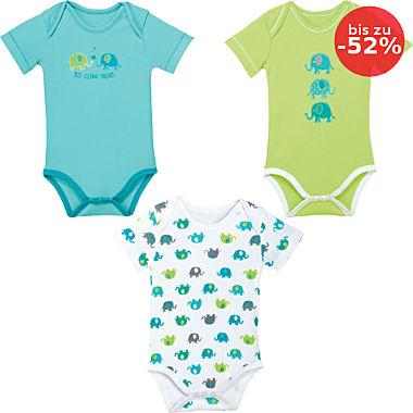 Erwin Müller Interlock-Jersey Baby-Body kurzarm im 3er-Pack
