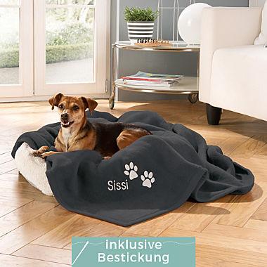Ibena Hunde- und Katzendecke Pfote inklusive Bestickung!