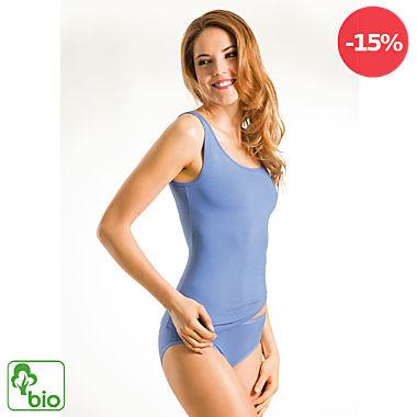 Pompadour Single-Jersey Bio Damen-Unterhemd im 2er-Pack