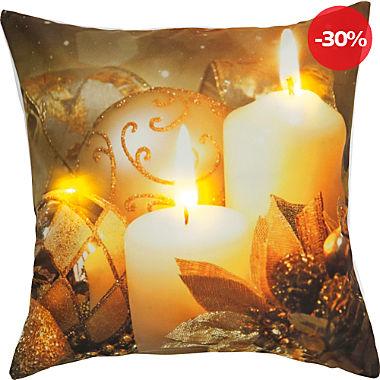 REDBEST LED-Kissenhülle Kerzen