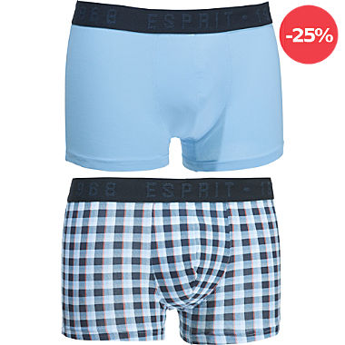 ESPRIT Single-Jersey Herren-Pants im 2er-Pack