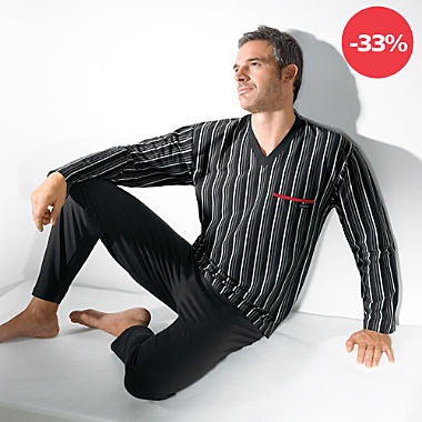 Bugatti Single-Jersey Herren-Schlafanzug