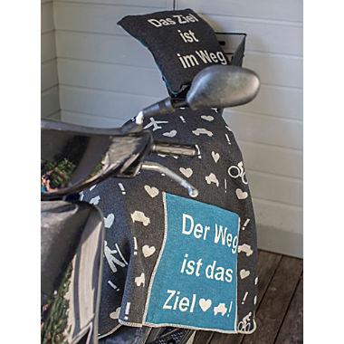 Fussenegger Jacquard Flanell Reisedecke Silvretta mit Tasche