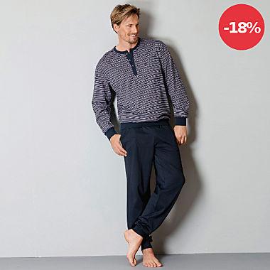 Hajo Single-Jersey Herren-Schlafanzug