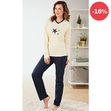 REDBEST Single-Jersey Damen-Schlafanzug.