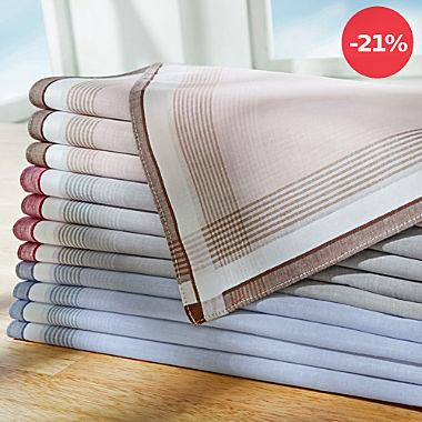 Herren-Taschentücher im 12er-Pack