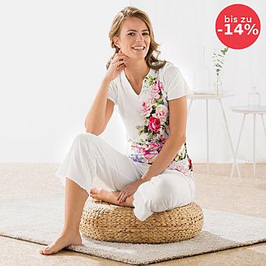 Hutschreuther Single-Jersey Damen-Schlafanzug
