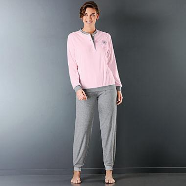 Hajo Klima-Frottee Damen-Schlafanzug