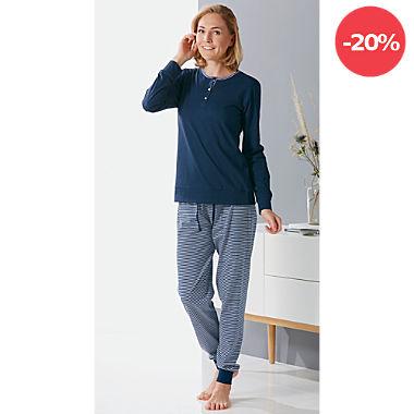 Erwin Müller Single-Jersey Damen-Schlafanzug
