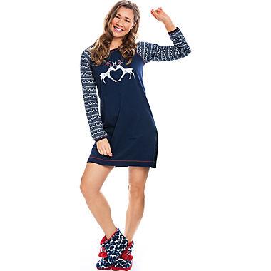 Rebelle Single-Jersey Damen-Nachthemd