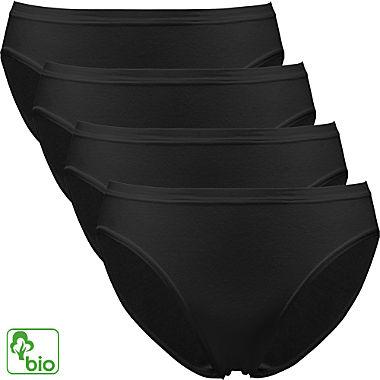Pompadour Feinripp Bio Damen-Bikinislip im 4er-Pack
