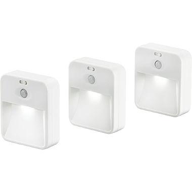 LED-Wandleuchte im 3er-Pack, koppelbar