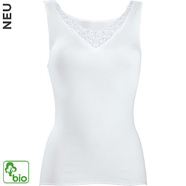 Nina von C. Feinripp Bio Damen-Unterhemd