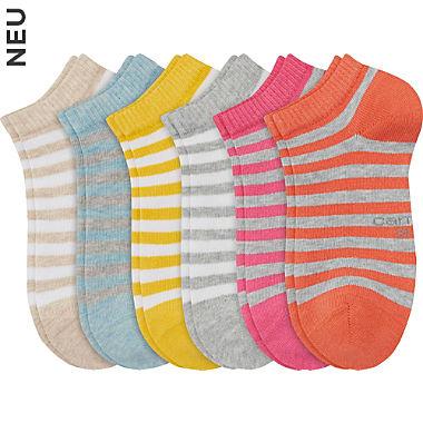 Camano Kinder Sneaker-Socken im 6er-Pack
