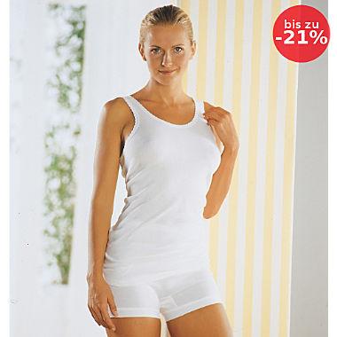 Conta Feinripp Damen-Unterhemd im 2er-Pack