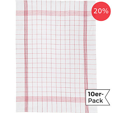 10-pack half-linen tea towels