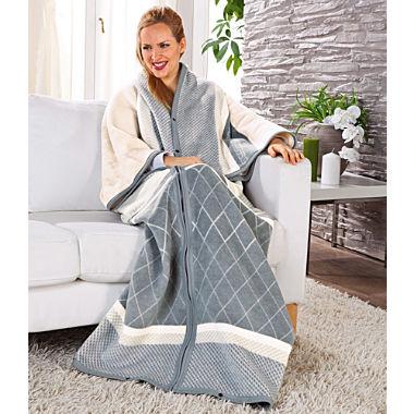 Biederlack blanket with sleeves