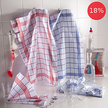Pack of 4 tea towels