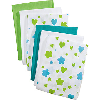 Pack of 6 muslin squares