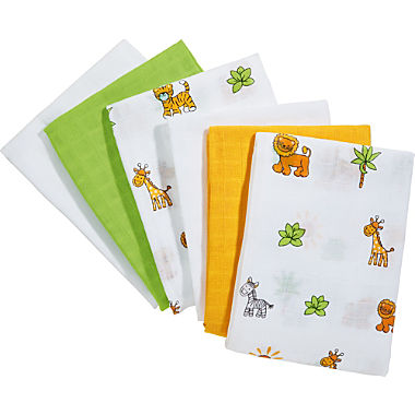 Erwin Müller 6-pack muslin squares