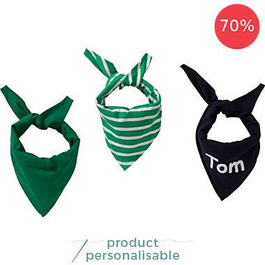Erwin Müller 3-pack kids triangle neck scarves