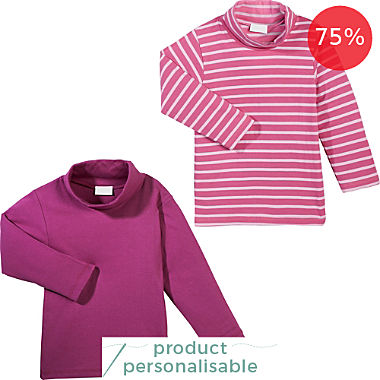 Erwin Müller 2-pack baby roll neck tops
