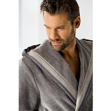 Cawö men's hooded bathrobe