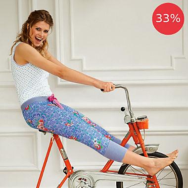 Bloomy single jersey women's Capri leggings